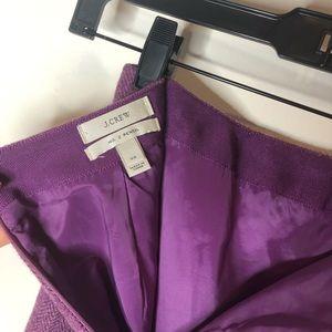 J Crew purple pencil skirt!
